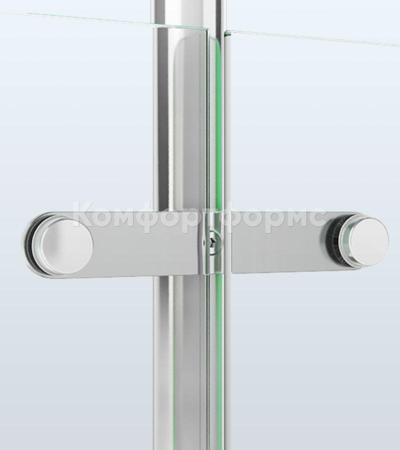 Ограждение со стеклом на пластинчатых держателях