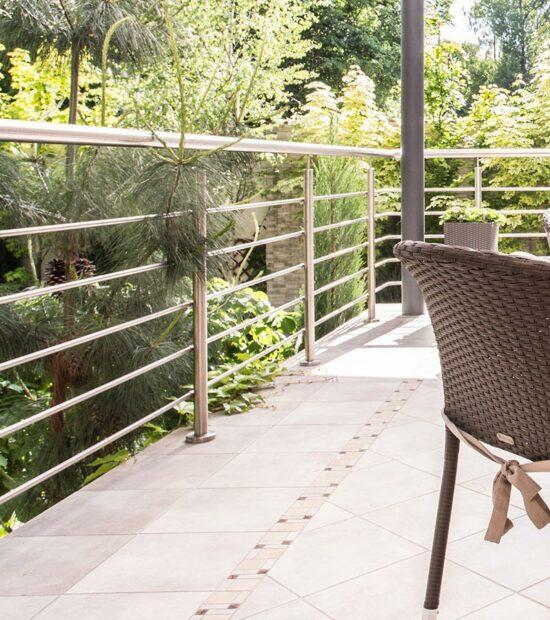 Ограждение из нержавеющей стали для балконов