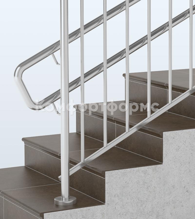 Ограждения из нержавейки на лестницу в школе